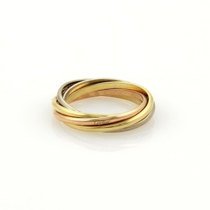 Cartier Cartier Trinity 18 Gold 1.5mm Rolling 5 Bands Ring EU 52-US 6 Cert.
