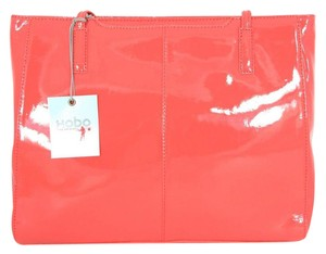 Hobo International Hobo Poppy Patent Leather Tote in Coral