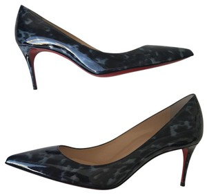 Christian Louboutin Classic Sexy Red Soles Stiletto Louboutin Decollete Blue Pumps