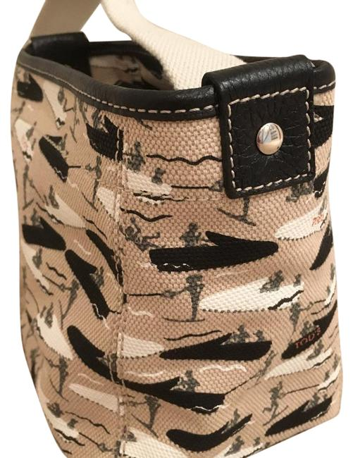 Item - Micheal Roberts For White Black & Tan Canvas Baguette