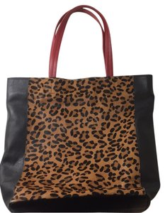 Steven by Steve Madden Tote in black, leopard, red