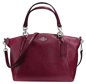 Coach Kelesy Madison 34493m F34493 36675 Satchel in Burgandy with silver Tone Hardware