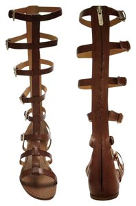 Belle by Sigerson Morrison New Never Worn Knee High Gladiator Stylish Brown Sandals