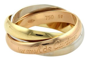 Cartier Cartier Trinity 18k Gold 3.5mm Rolling Bands Ring Size EU 51-US 5.5
