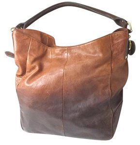 Steven by Steve Madden Tote in two-tone light and dark brown