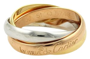 Cartier Cartier Trinity 18k Gold 3 Rolling Bands Ring 3mm Size EU 51-US 6