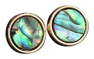 Other Abalone Shell Circle Natural Stone Stud Earrings