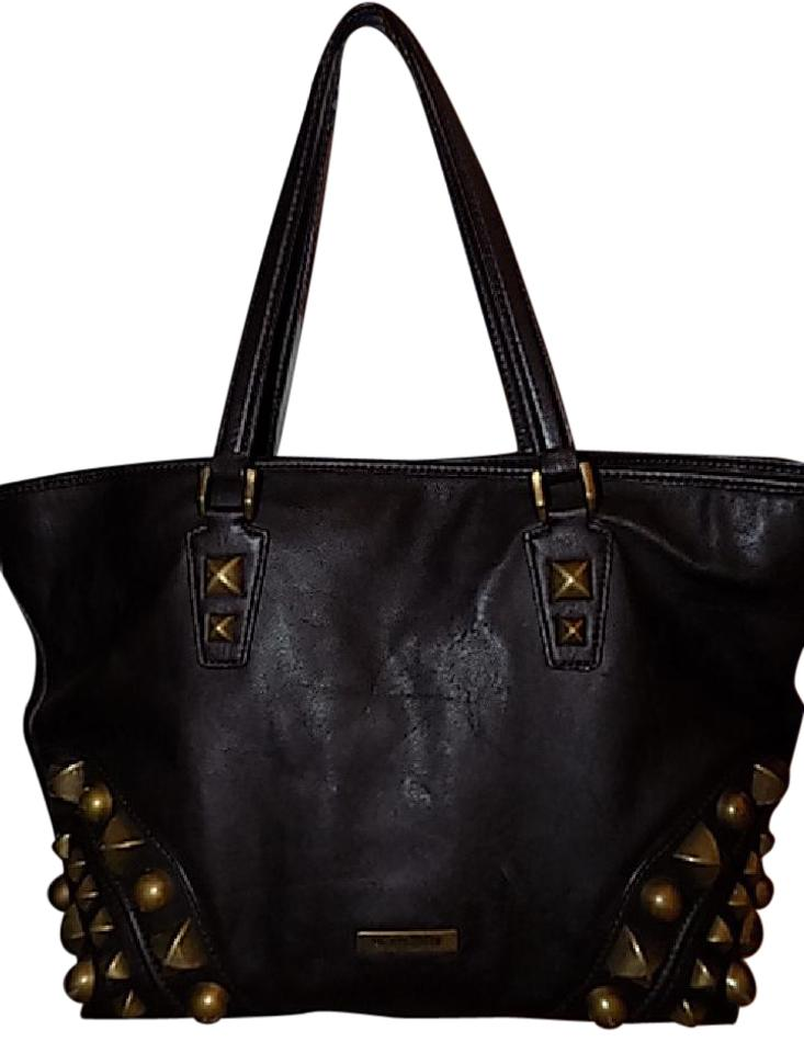 8a31d1ad54 Burberry Bag Large Nickie Studded Chocolate Brown Leather Tote - Tradesy