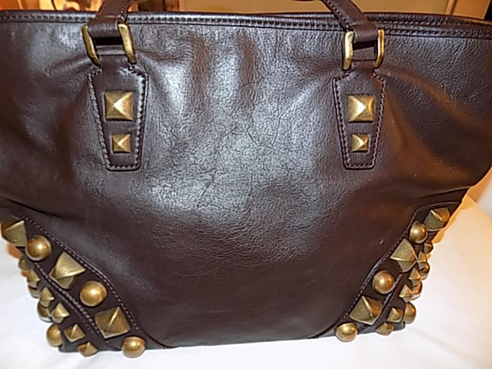 Fantastic Burberry Large Nickie Studded Chocolate Brown Leather Tote -  Tradesy KH45 98dd8778b7