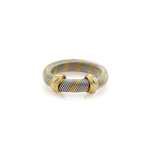 Cartier Cartier Trinity 18k Yellow Gold & Steel 4mm Wire Band Ring Size EU 49-