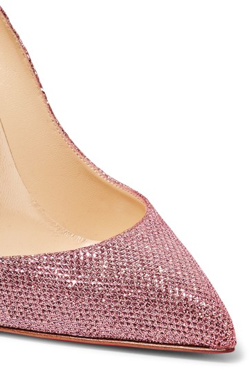 Christian Louboutin Pigalle Pigalle Follies Glittered Pink Pumps Image 2