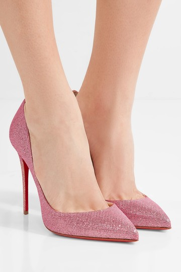 Christian Louboutin Pigalle Pigalle Follies Glittered Pink Pumps Image 3