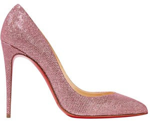 Christian Louboutin Louboutin Pigalle Pigalle Follies Glittered Louboutin Pink Pumps