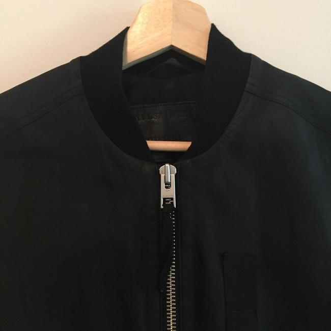AllSaints Bomber Oversized Military Leather Jacket
