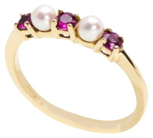 Tiffany & Co. Ruby & Pearl 18K ring