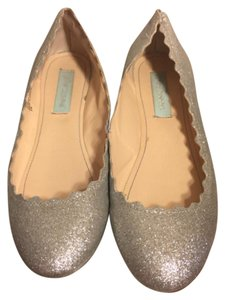 Betsey Johnson Silver Flats