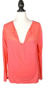 Michael Stars Color-blocking Top red pink