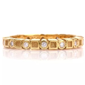Hidalgo 18K yellow gold eternity diamond band