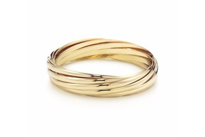 Tiffany & Co. Paloma Picasso Melody 18K Yellow Gold 9 band large size bangle