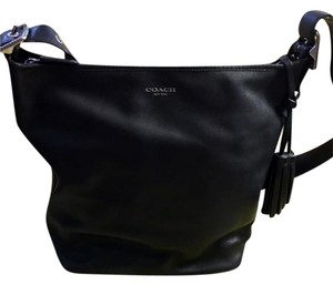 Coach Hobo Tassels Cross Body Hobo Chic Leather Shoulder Bag