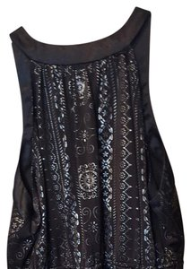 Studio 1940 Sharp Sleek Night Out Top Black and silver