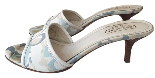 Item - White and Blue Sandals Size US 8.5