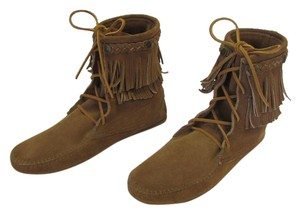 Minnetonka Leather Size 9.00m Very Good Condition Tan, Boots