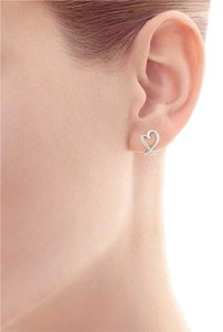 Tiffany & Co. Paloma Picasso(R): silver Loving Heart Earrings