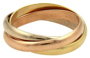 Cartier Cartier Trinity 18k Tri-Color Gold 2.5mm Rolling Band Ring EU 49-US 5