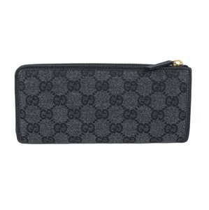Gucci GUCCI 268917 Women's Charcoal GG Canvas Zip Around Wallet