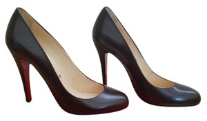 Christian Louboutin Leather Red Soles Brown / Dark Brown Pumps
