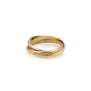 Cartier Cartier TRINITY 18k Gold 2mm Rolling Band Ring Size EU 51-US 5.75