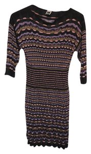 M Missoni short dress Charcoal Gray, Pink and Lilac on Tradesy