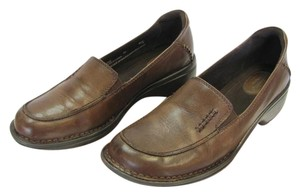 Clarks Leather Size 10.00 Wide Good Condition Brown Flats