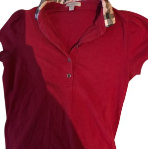 Burberry Button Down Shirt red
