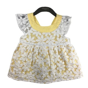 Gymboree short dress YELLOW/ WHITE Floral Lace Spring Summer Cotton on Tradesy