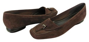 Naturalizer Suede Leather Size 8.50 Narrow Very Good Condition Brown Flats
