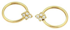 Cartier Cartier 18K Yellow Gold Hindu Diamond Hoop Earrings