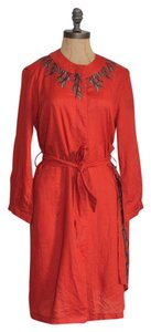 Max Mara short dress ORANGE Tunic Embroidered Spring Summer on Tradesy