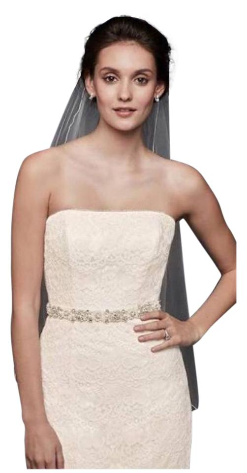d3b5f63c77 David's Bridal Ivory Lace & Tulle Strapless Trumpet with Skirt (Plus Veil  Petticoat Bustier). 12345678