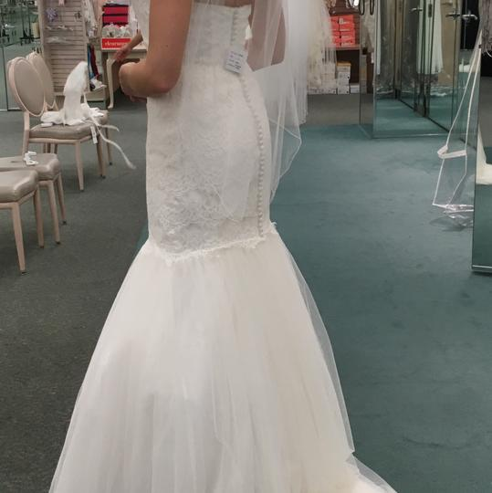 David Bridal Bridesmaid Dresses Plus Size: David's Bridal Strapless Lace Trumpet With Tulle Skirt