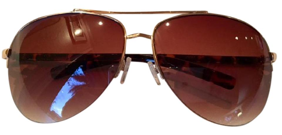 Jessica Simpson Gold Oversized Rimless Brow Bar Aviators with Crystals -  Sexy and Chic Sunglasses