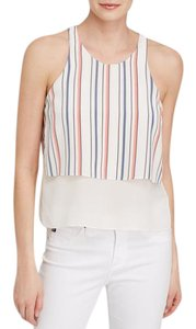 Elizabeth and James Silk Swing Sleeveless Top Multi Color