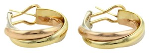 Cartier Cartier Trinity 18k Tri-Color Gold Medium Size Hoop Earrings