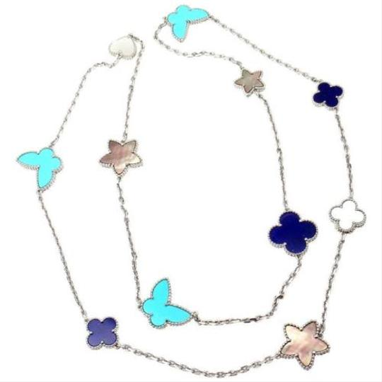 Van Cleef Lucky Alhambra Necklace: Van Cleef & Arpels Turquoise Lucky Alhambra Lapis Necklace