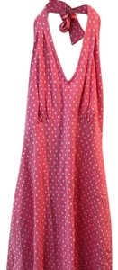 Talbots short dress pink and white polka dot on Tradesy