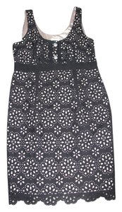 ECI New York short dress Black Lace/Nude lining on Tradesy
