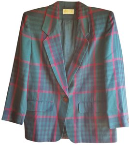 Pendleton Colorful Green blue red plaid Blazer