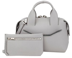 Alexander Wang Mini Studded Leather Satchel in Gray