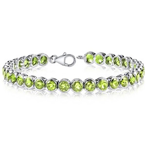 Other 18,25 Carat Peridot Tennis Bracelet